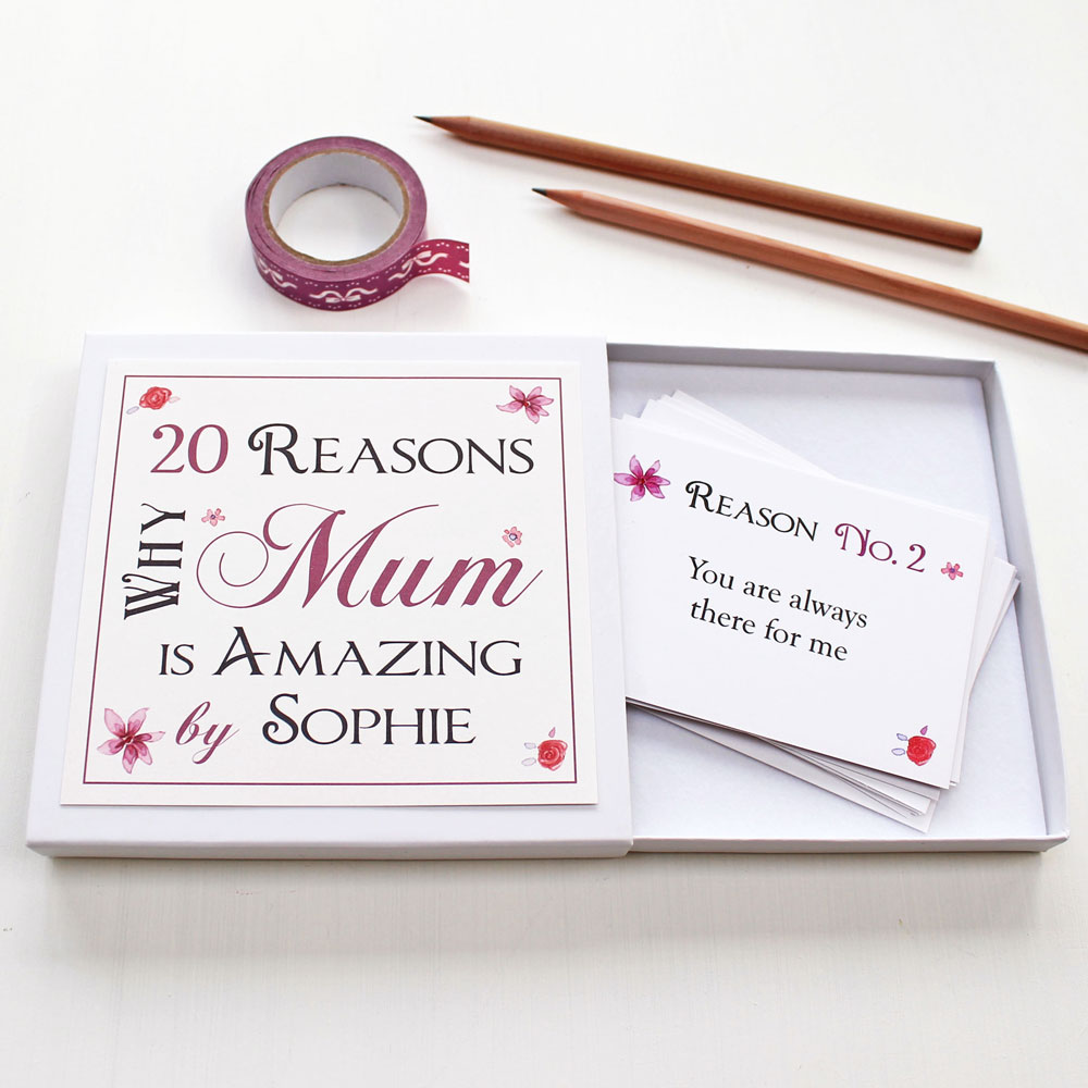 Personalised Best Mum Notes