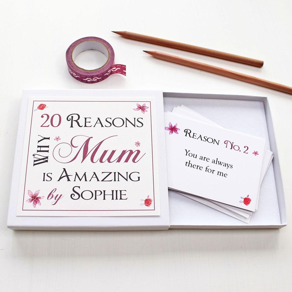 Personalised Best Mum Notes
