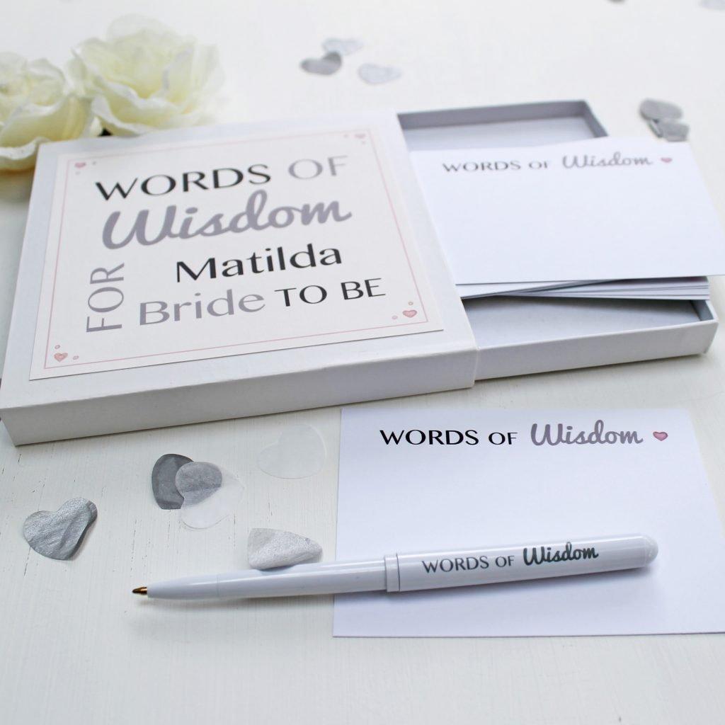 Bride Words of Wisdom Notes 5