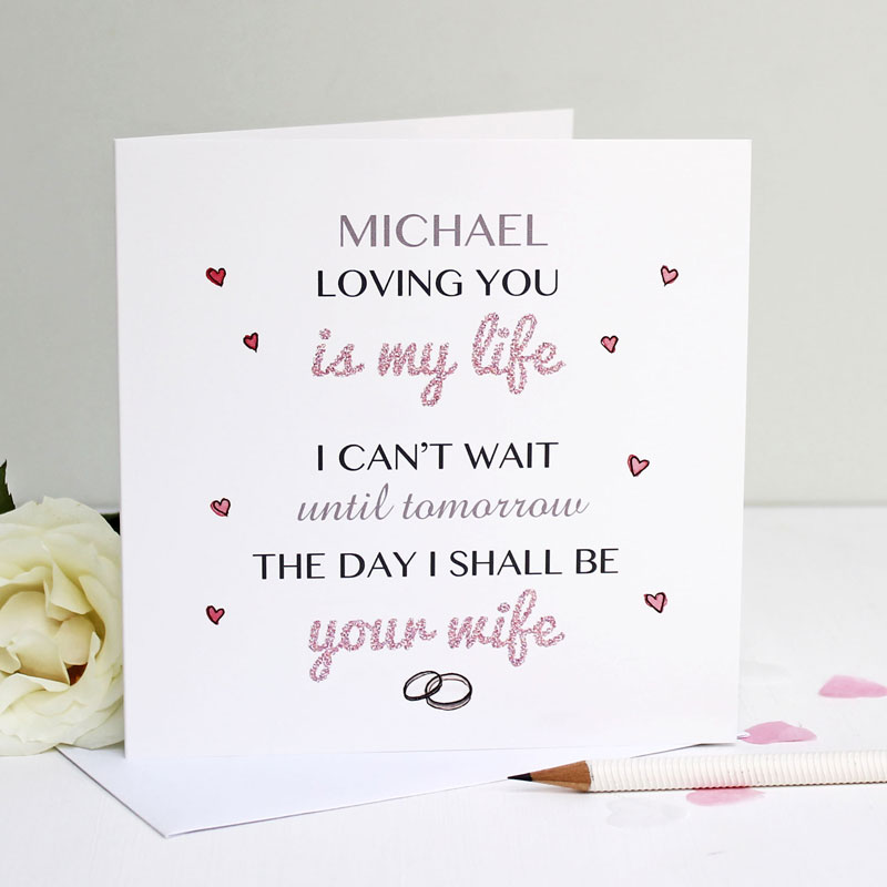 Cant Wait To Be Your Wife Greeting Card