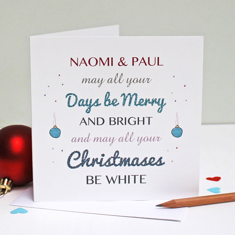 Personalised Days Be Merry Christmas Card