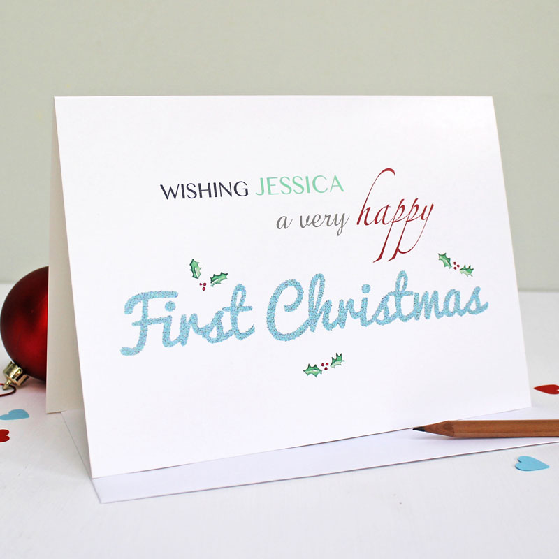 HAPPY FIRST CHRISTMAS GREETING CARD