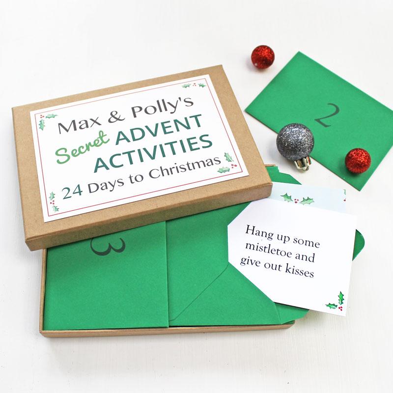 SECRET ADVENT ACTIVITIES BOX