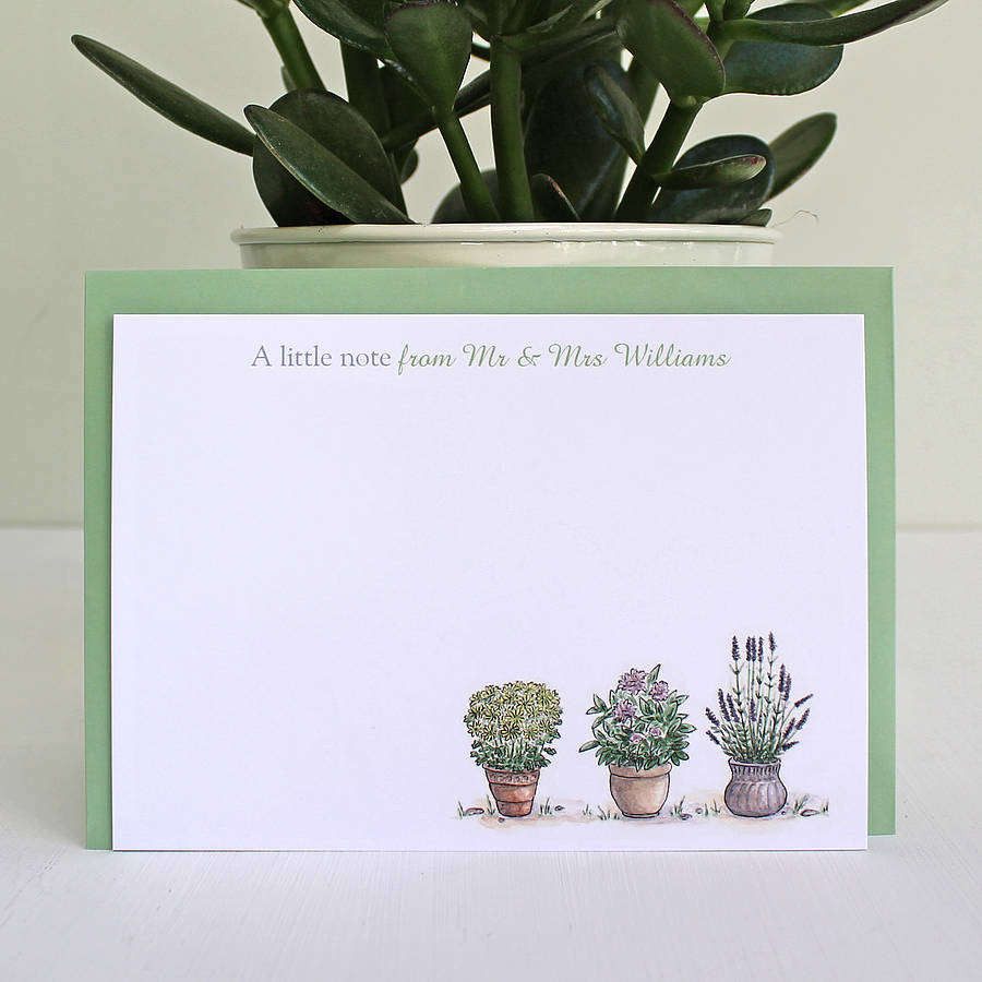 Flowers in Pots Notecards Writing Set