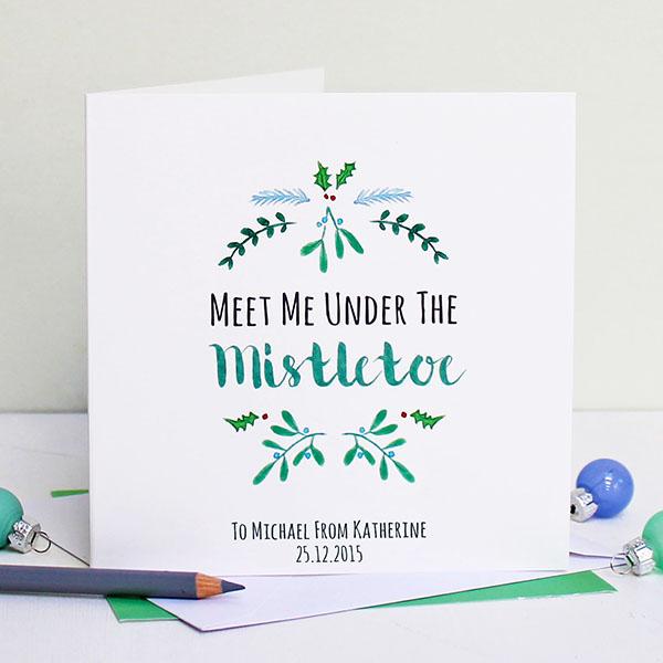 2 Meet Me Under The Mistletoe Christmas Card 1