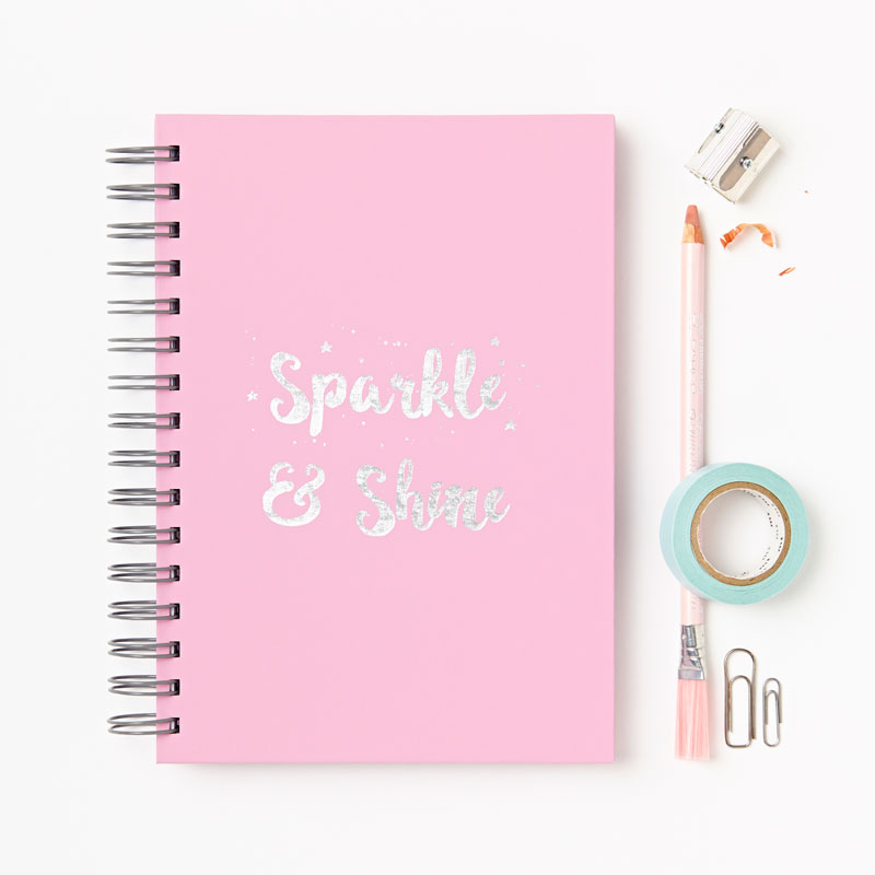 16-sparkle-and-shine-hardback-notebook