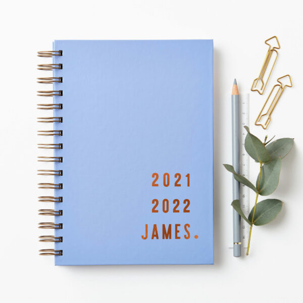 Martha-Brook-Personalised-Contemporary-Mid-Year-Academic-Sky-Blue-Wirebound-Copper-Foil-scaled