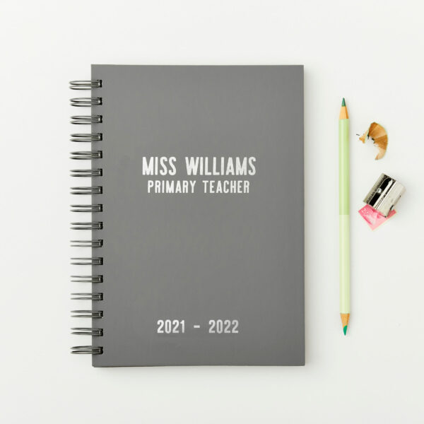 Martha-Brook-Personalised-Teachers-Mid-Year-2021-2022-Academic-Diary-Wirebound-Silver-foil-scaled.jpg