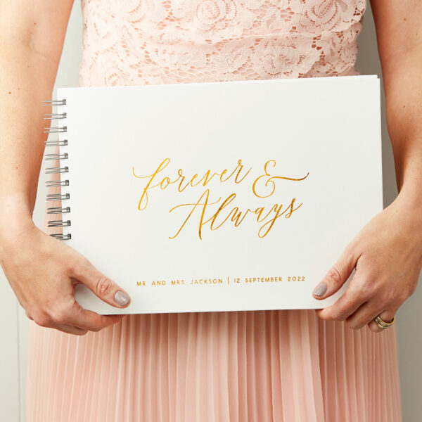 Personalised Forever And Always Wedding Guest Book