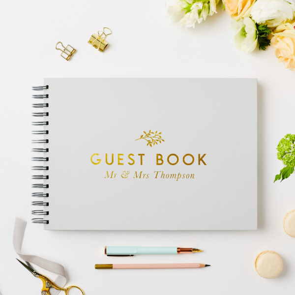 Martha Brook Personalised Classic Wedding Guest Book
