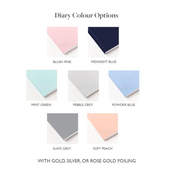 Martha Brook 2022 Softback Diary Colour Options