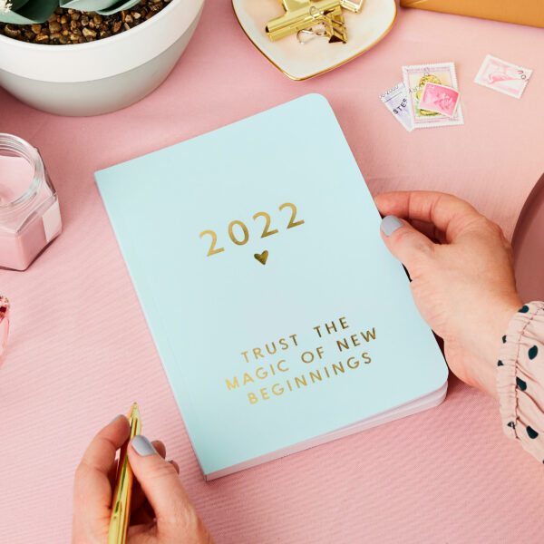 Personalised Any Text 2022 Weekly Diary