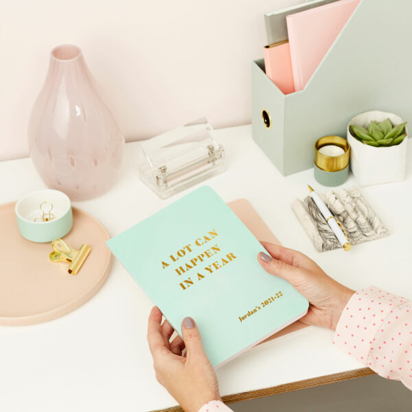 Martha-Brook-Personalised-A-Lot-Can-Happen-2021-2022-Mid-Year-Diary-Blue-Academic-A5-softback-stationery