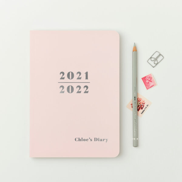 Martha-Brook-Personalised-Prime-2021-2022-Midyear-Academic-Diary-Softback-Blush-pink-silver-foiling
