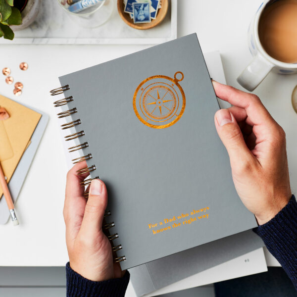 Personalised Compass Luxe Hardback Notebook