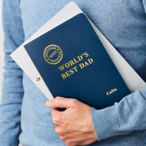 Martha Brook Personalised World's Best Dad Notebook