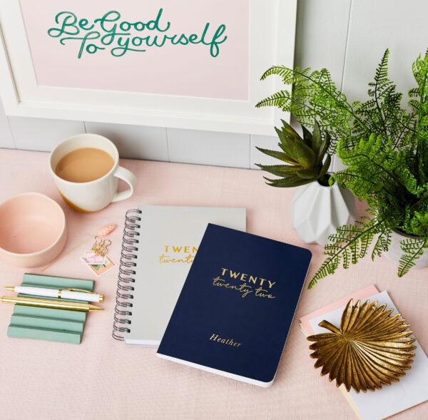 Personalised Twenty Twenty Two 2022 Weekly Diary