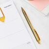 martha brook gold ballpoint pen