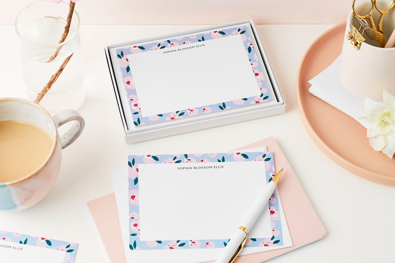 Uplifting-things-to-do-at-home-this-Easter-send-a-letter-notecards-blossom-spring