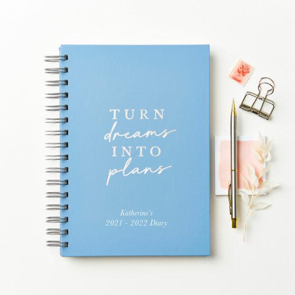 Martha-Brook-Personalised-Dreams-2021-2022-Mid-Year-Academic-Diary-Ringbound-Blue-Hardback-Silver-Foil-scaled.jpg