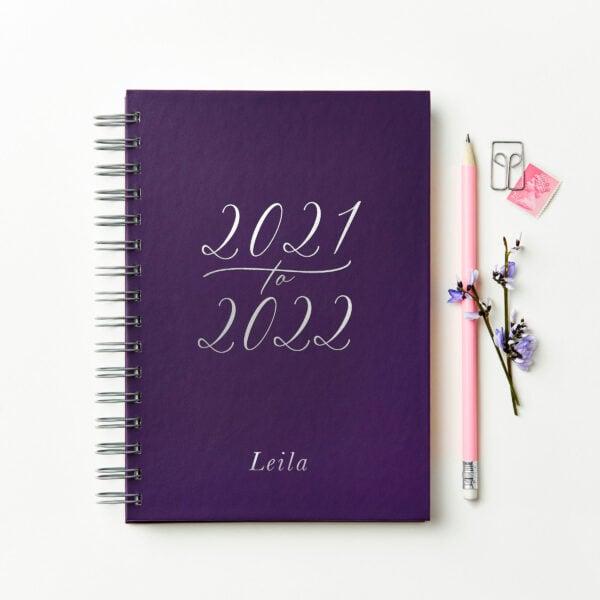 Martha-Brook-Personalised-Flourish-2021-2022-Mid-Year-Diary-Customised-Hardback-Ringbound-A5-Purple-scaled.jpg