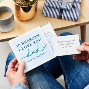 Martha Brook Personalised Love Dad Notes Fathers Day Gift