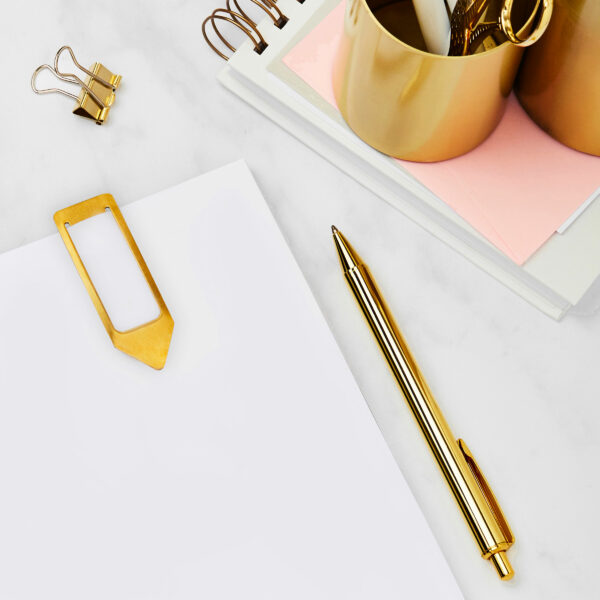 Optional pen and bookmark