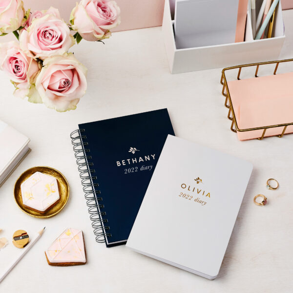 personalised traditional 2022 weekly diary