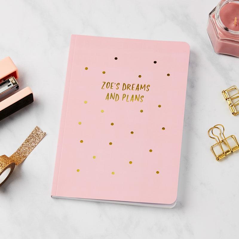 Gold Sprinkles Notebook