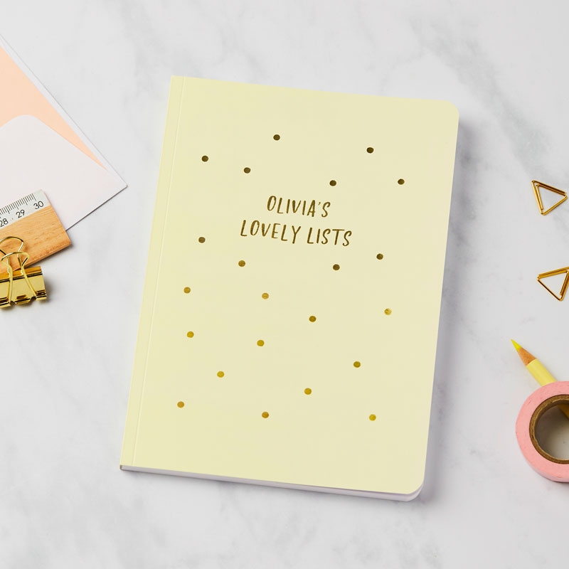 Gold Sprinkles Notebook