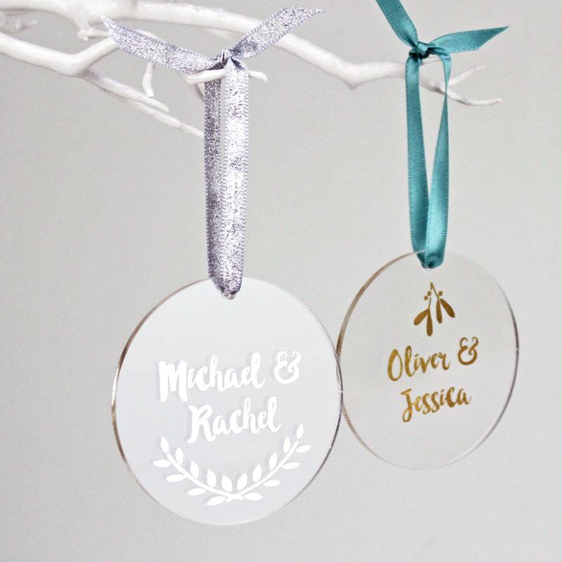 Couple's Foiled Decoration