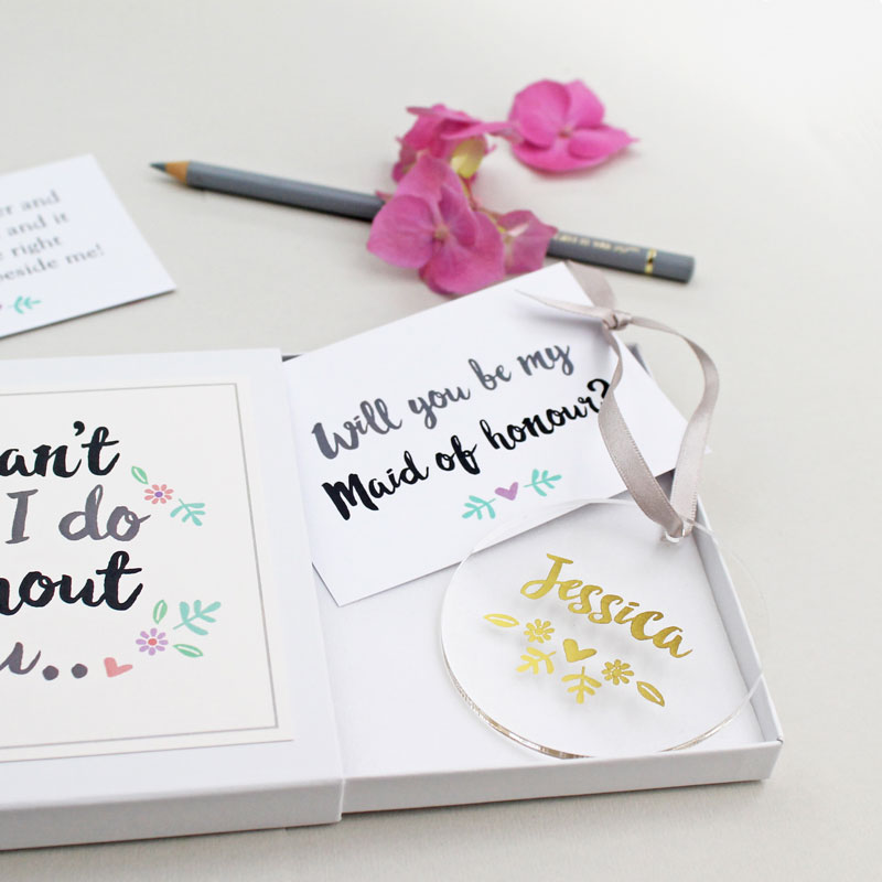 'Will You Be My Maid Of Honour?' Keepsake Gift