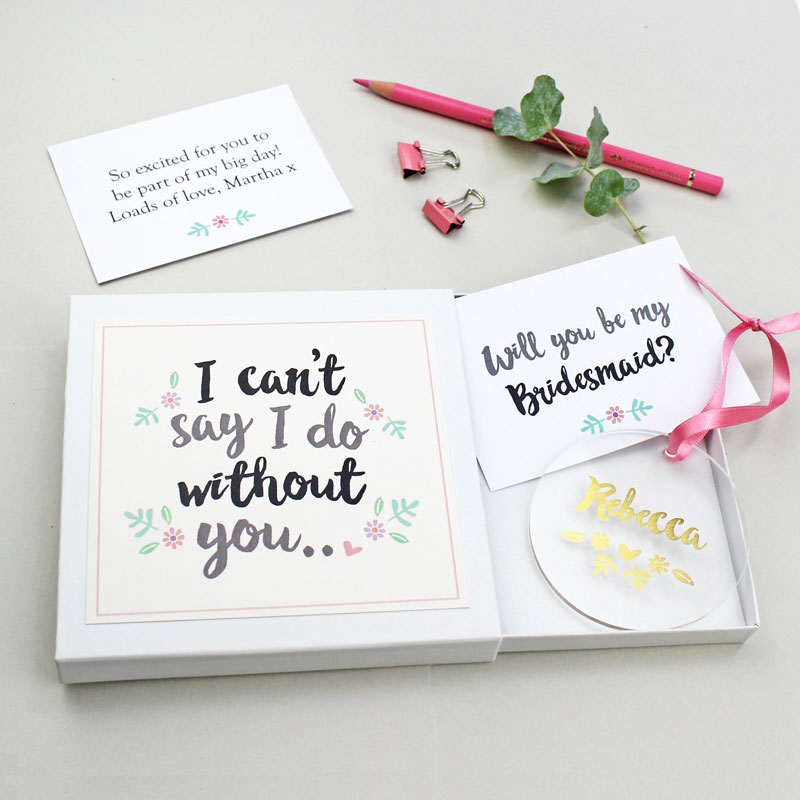 'Will You Be My Bridesmaid?' Keepsake Gift