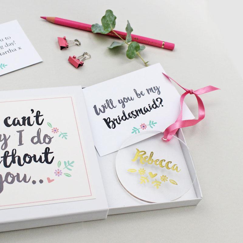 'Will You Be My Bridesmaid?' Keepsake Gift