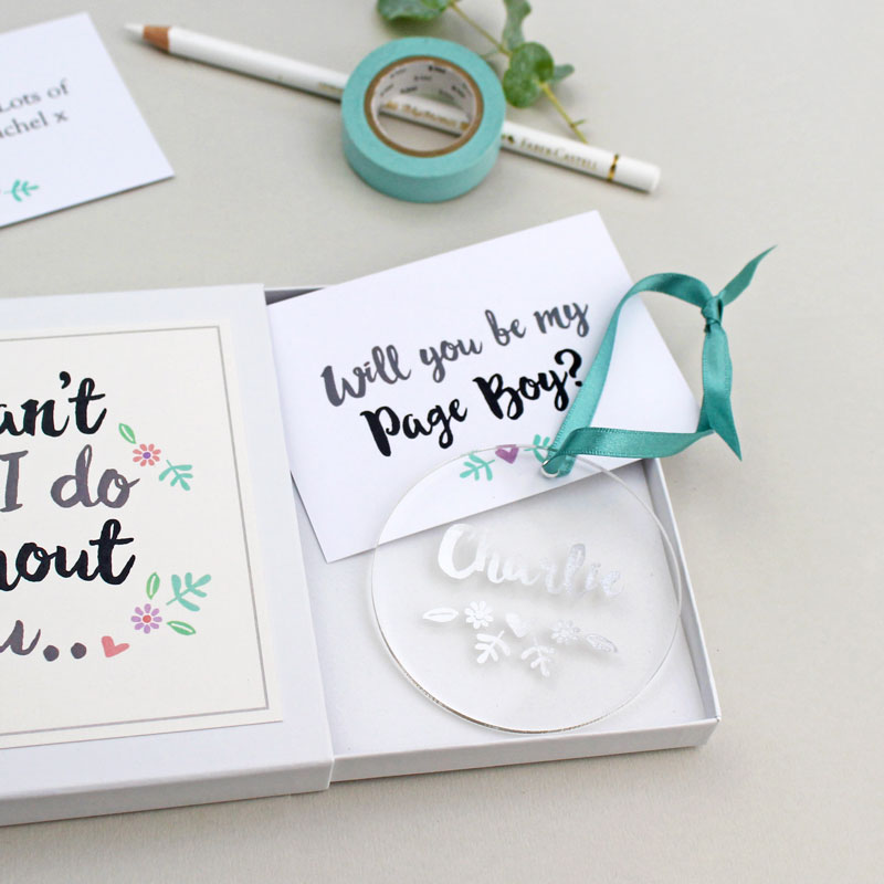 'Will You Be My Page Boy?' Keepsake Gift