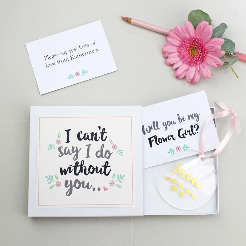 'Will You Be My Flower Girl?' Keepsake Gift