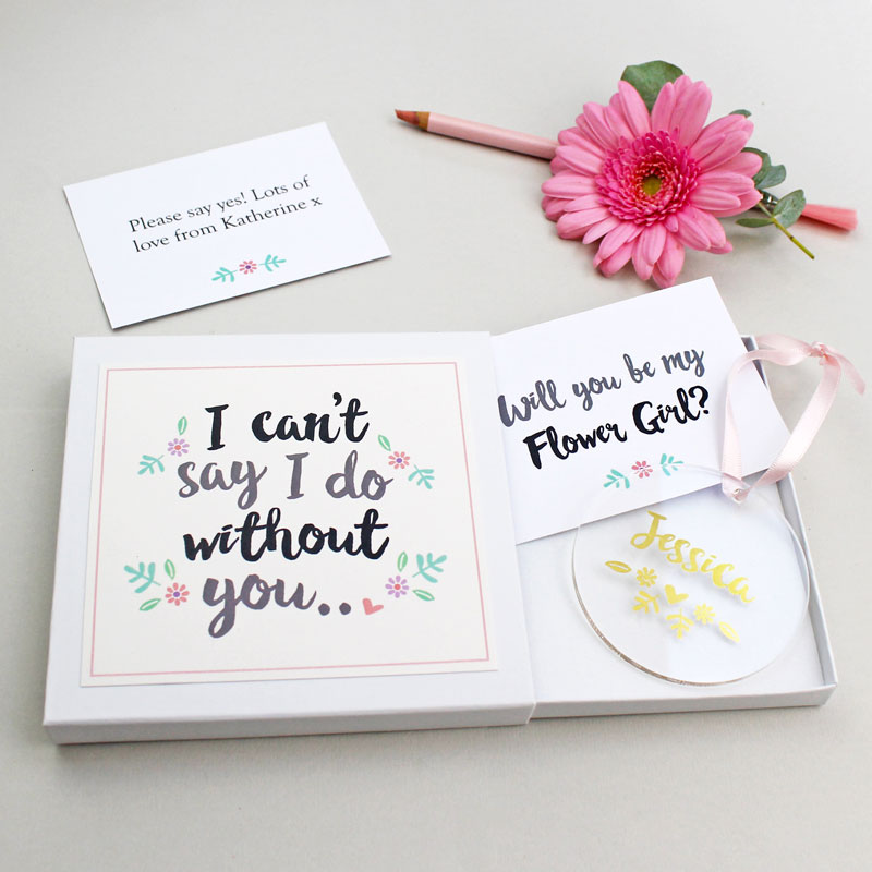 'Will You Be My Flower Girl?' Keepsake Gift