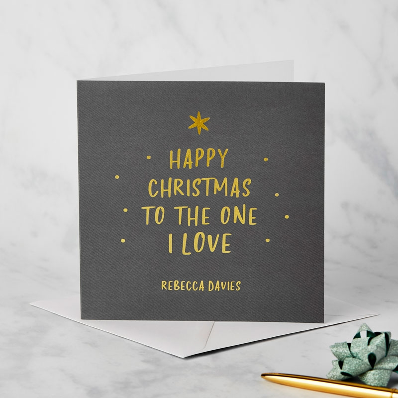 Gold Loved One Christmas Card Card