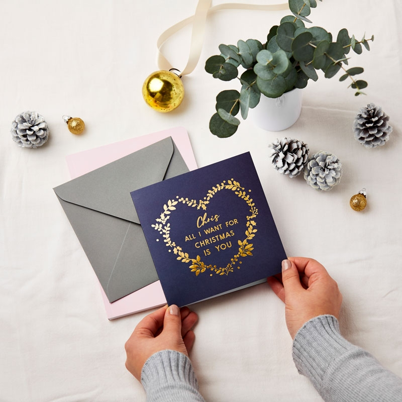 All I Want For Christmas Is You Foiled Card