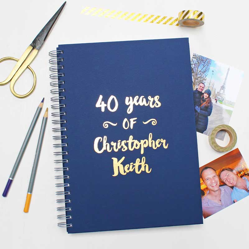 Milestone Birthday Memory Book