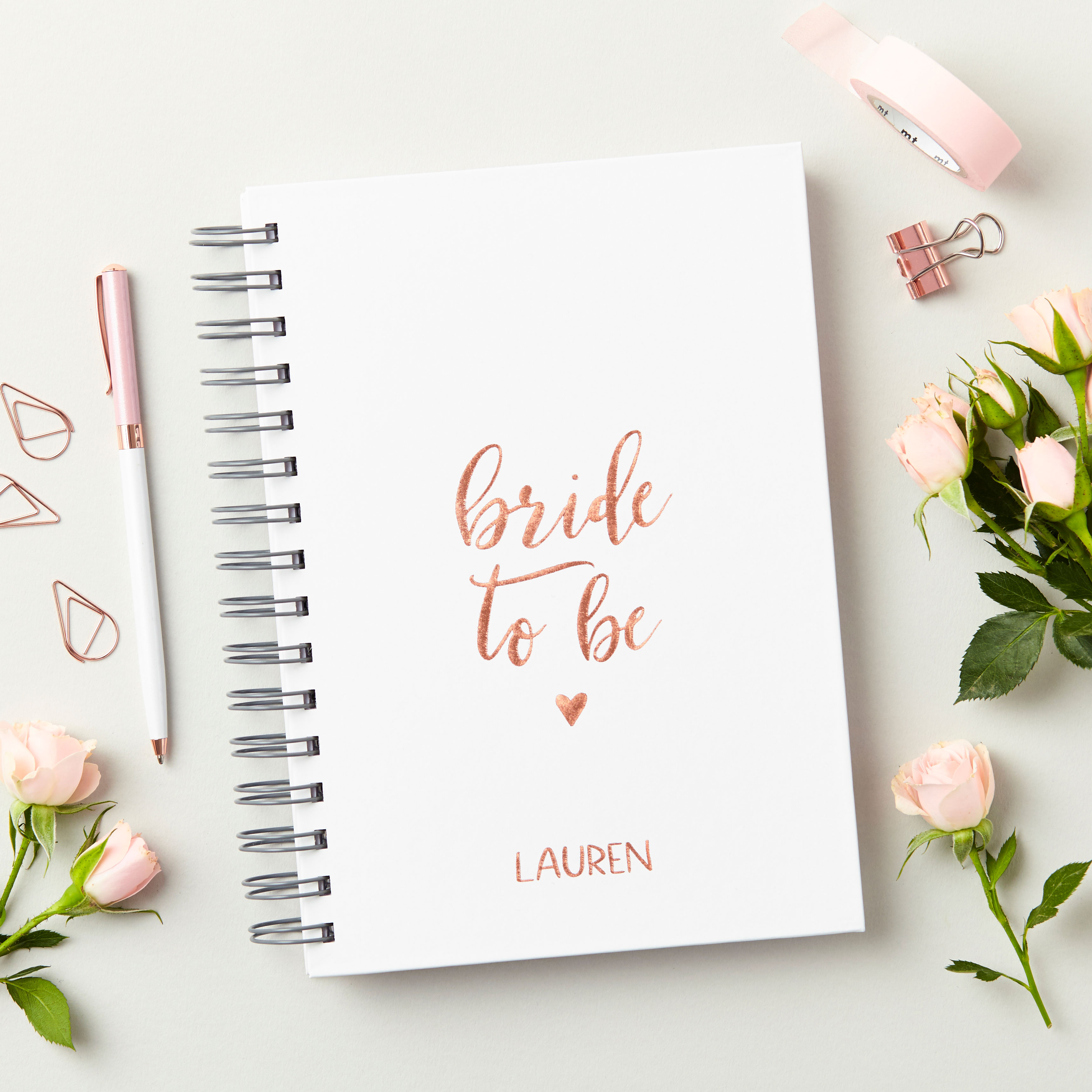 Rose Gold 'Bride To Be' Notebook