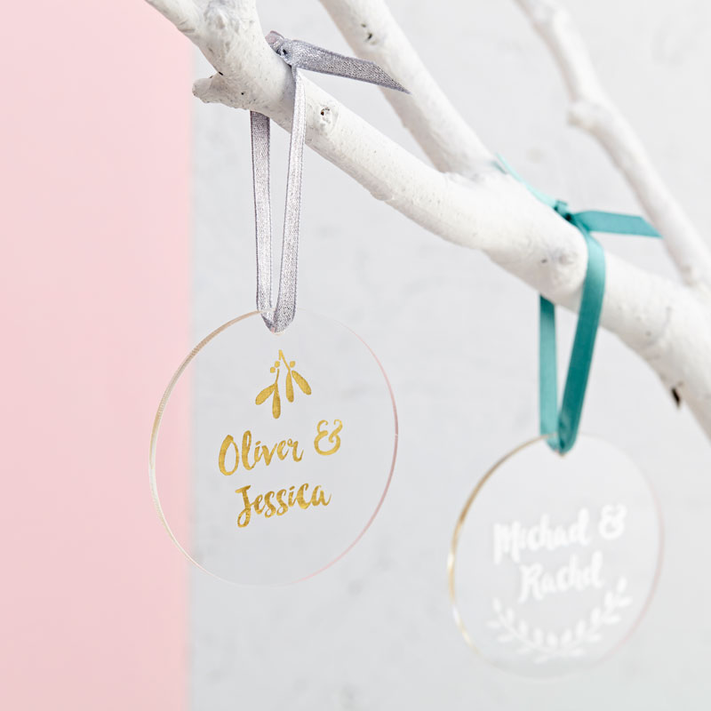 Couple's Christmas Decoration Card