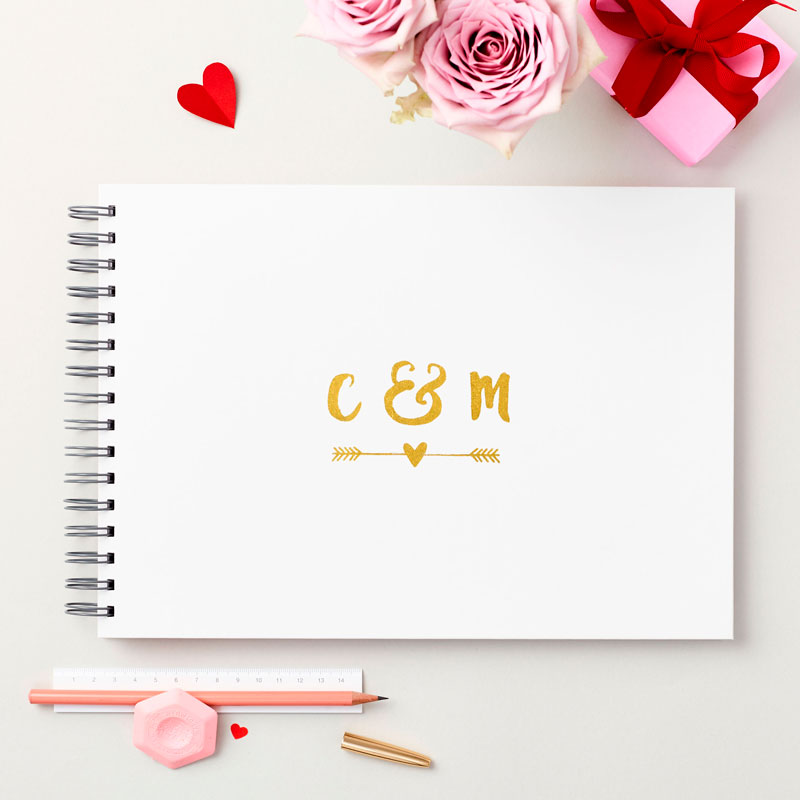 Couple's Initials Memory Book