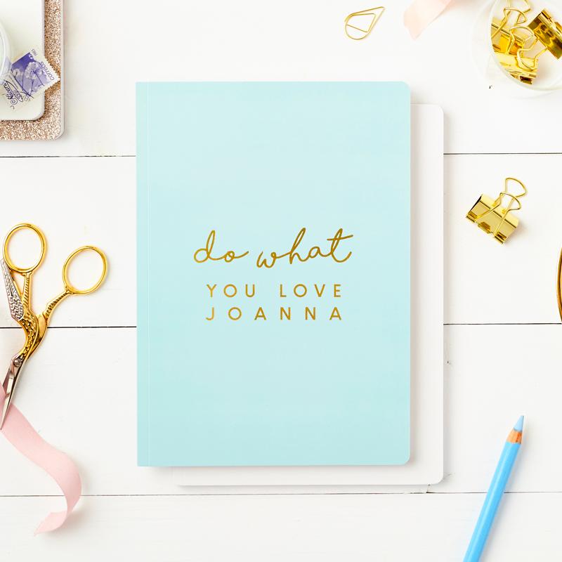 Do What You Love Foiled Softback Notebook