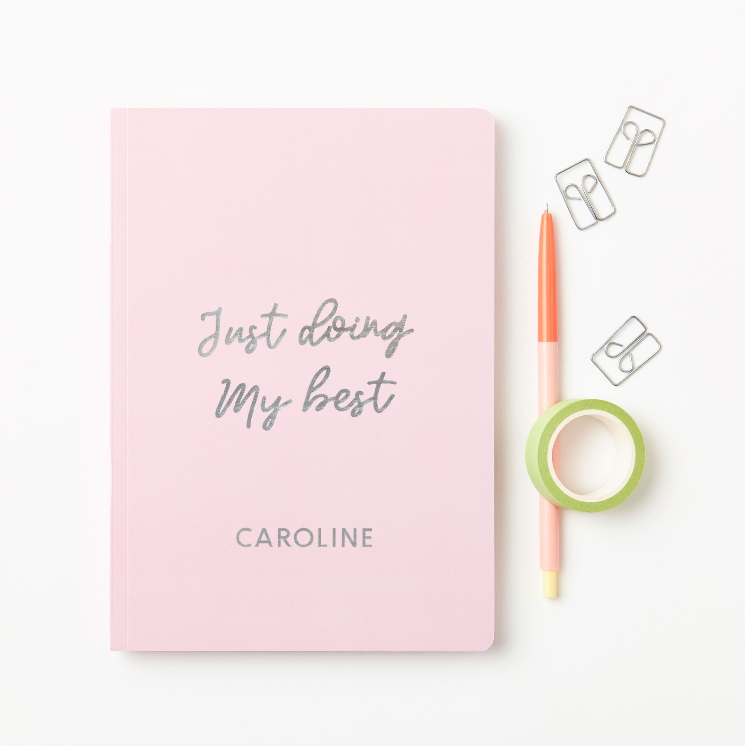 Personalised Doing My Best Foiled Notebook