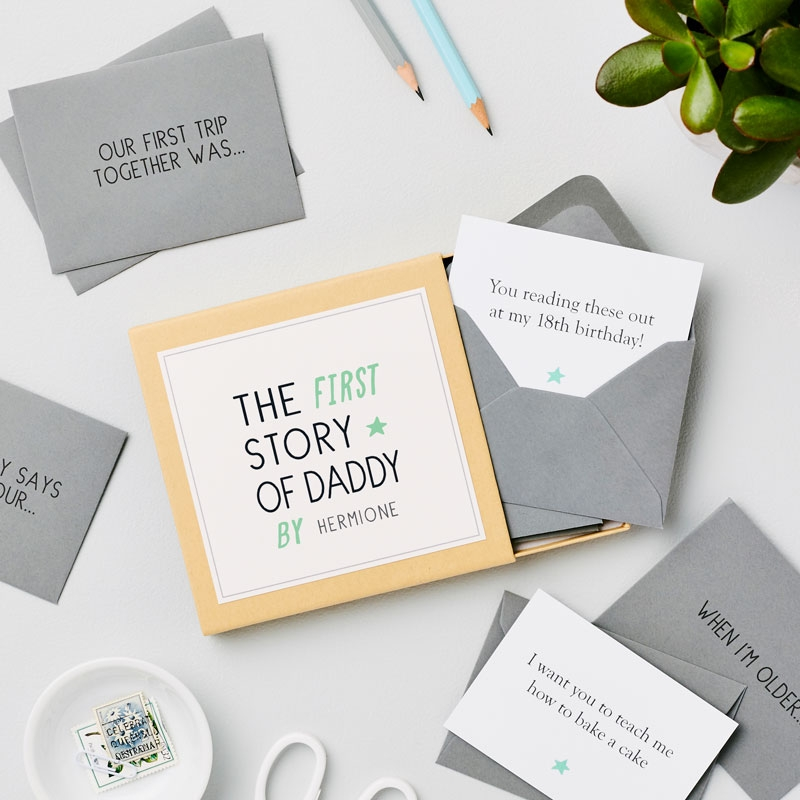 First Father's Day 'Story Of Dad' Messages Gift Box