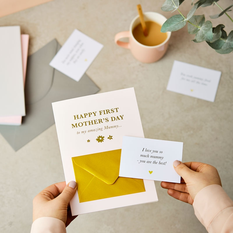 First Mother's Day Secret Message Card