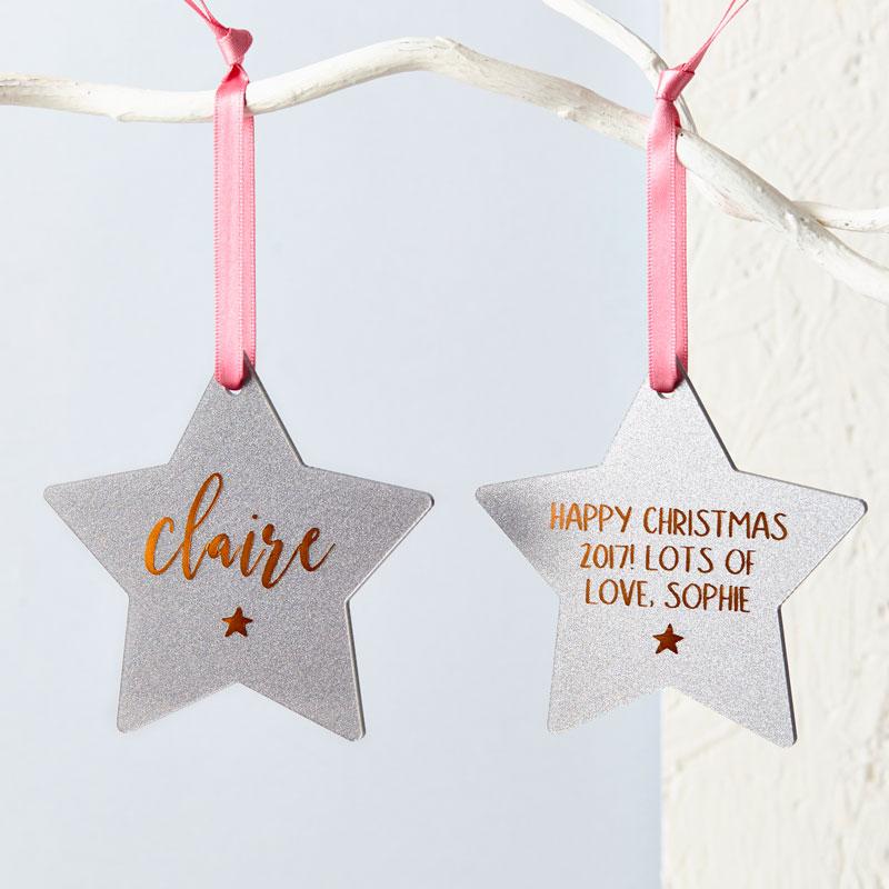 Foiled Glitter Star Decoration