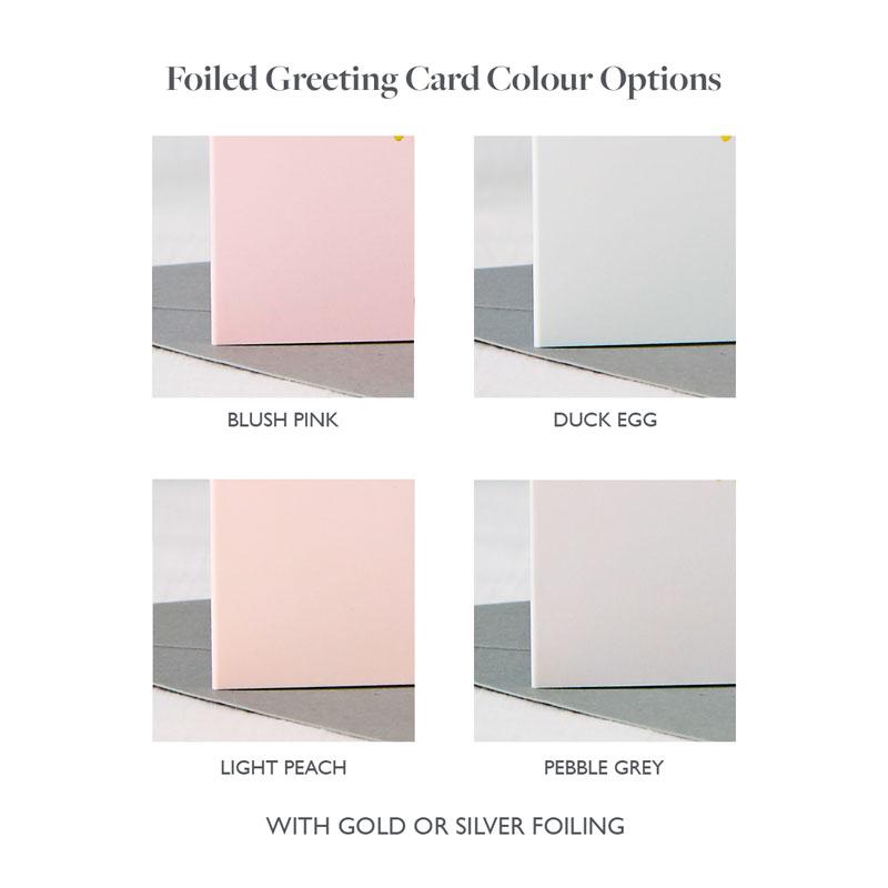 Foiled Card Colour Options