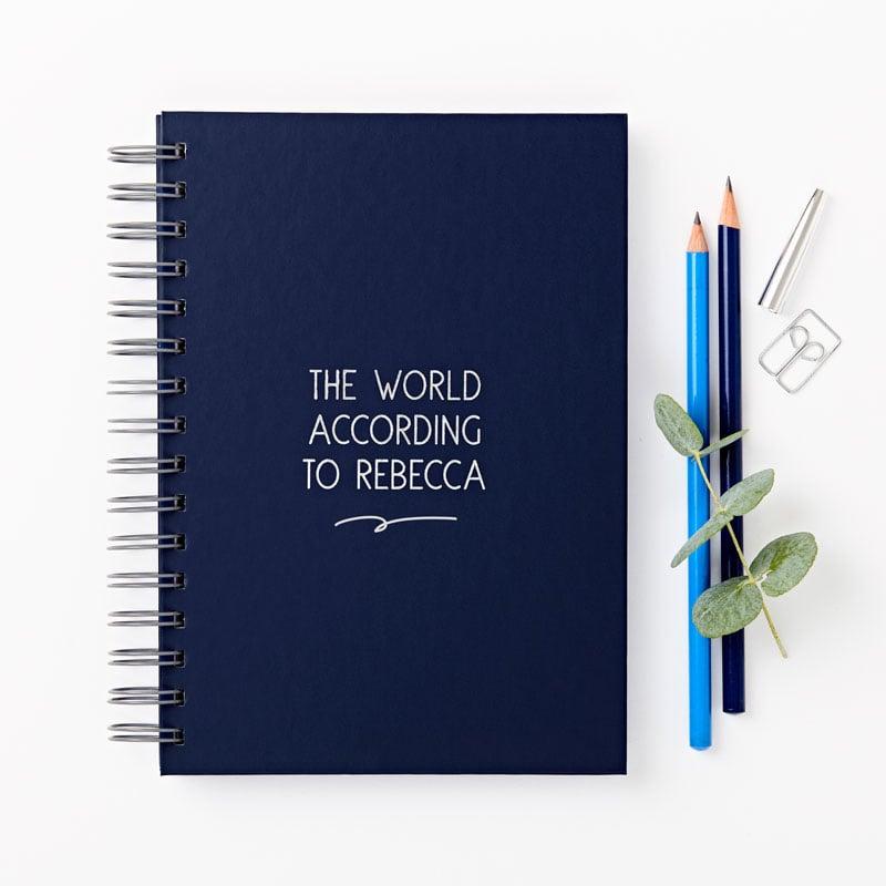 Any Text Hidden Photo Hardback Notebook